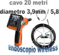 Boroscopio Wireless 5 millimetri 20 metri